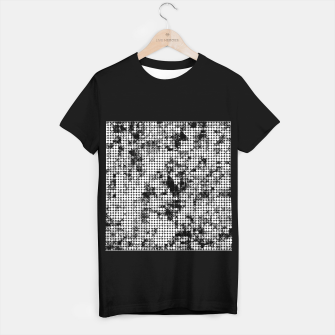 Miniaturka psychedelic circle pattern painting abstract background in black and white T-shirt regular, Live Heroes
