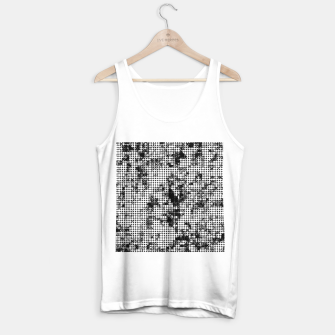 Miniaturka psychedelic circle pattern painting abstract background in black and white Tank Top regular, Live Heroes