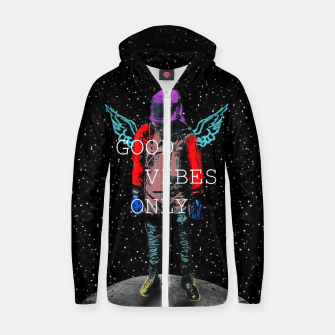 Good Vibes Only Cotton zip up hoodie Bild der Miniatur