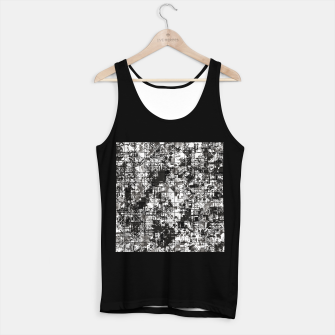 Miniaturka psychedelic geometric square pattern abstract background in black and white Tank Top regular, Live Heroes