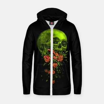 Thumbnail image of Vomit Cotton zip up hoodie, Live Heroes