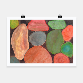 Miniatur . Lovely colorful Stones on dark Background  Poster, Live Heroes