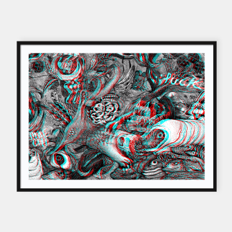 Miniaturka anaglyph 3D join 3puck Framed poster, Live Heroes