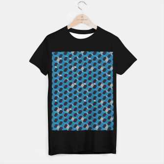 Thumbnail image of 3D Futuristic Honeycomb BG VI T-shirt regular, Live Heroes