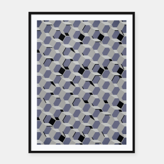 Thumbnail image of 3D Futuristic Honeycomb BG III Framed poster, Live Heroes