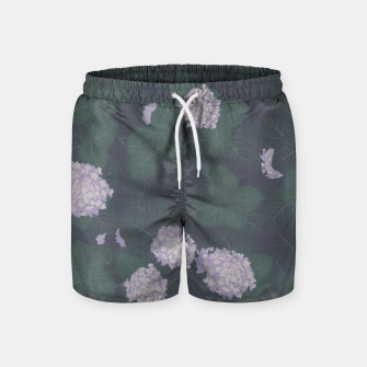 Thumbnail image of Full Hydrangeas in Blue Swim Shorts, Live Heroes