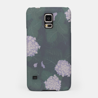 Miniatur Full Hydrangeas in Blue Samsung Case, Live Heroes
