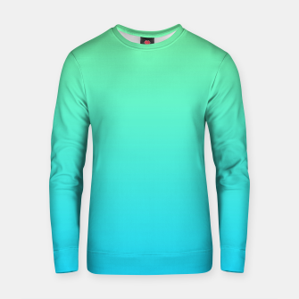 Miniaturka Great Green to Sky Blue Ambient Cotton sweater, Live Heroes