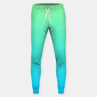 Miniaturka Great Green to Sky Blue Ambient Cotton sweatpants, Live Heroes