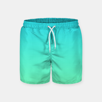Thumbnail image of Great Green to Sky Blue Ambient Swim Shorts, Live Heroes