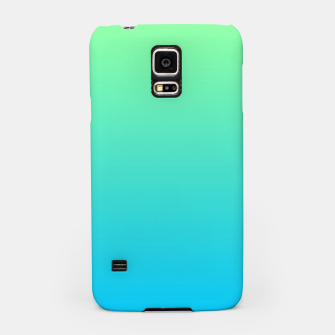 Miniatur Great Green to Sky Blue Ambient Samsung Case, Live Heroes