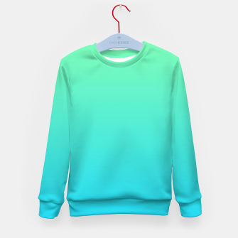 Miniaturka Great Green to Sky Blue Ambient Kid's sweater, Live Heroes