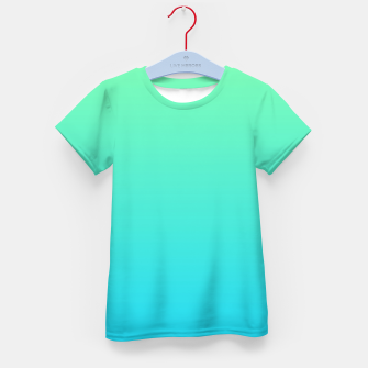 Miniatur Great Green to Sky Blue Ambient Kid's t-shirt, Live Heroes