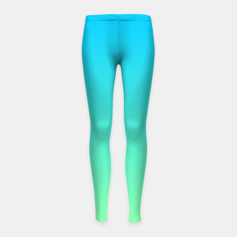 Miniaturka Great Green to Sky Blue Ambient Girl's leggings, Live Heroes