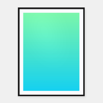 Miniatur Great Green to Sky Blue Ambient Framed poster, Live Heroes