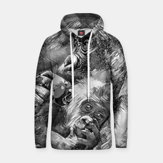 Thumbnail image of AnimalArtBW_Gorilla_001_by_JAMFoto Cotton hoodie, Live Heroes