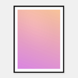 Thumbnail image of Nude to Pink Ambient Framed poster, Live Heroes