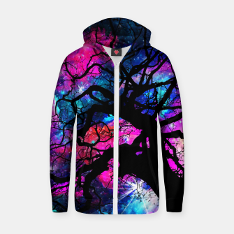 Thumbnail image of Starfield Tree Cotton zip up hoodie, Live Heroes