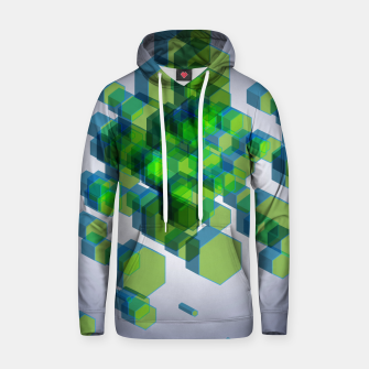 Thumbnail image of 3D Hexagon BG IX Cotton hoodie, Live Heroes