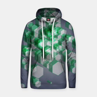 Thumbnail image of 3D Hexagon BG XII Cotton hoodie, Live Heroes