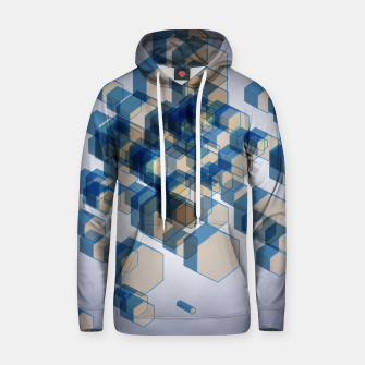 Thumbnail image of 3D Hexagon BG XIV Cotton hoodie, Live Heroes