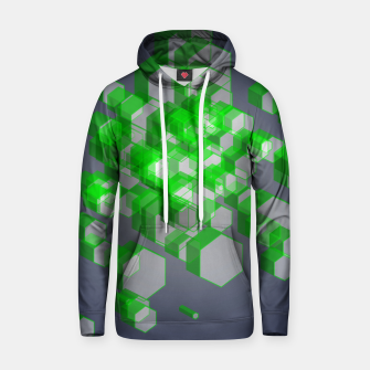 Thumbnail image of 3D Hexagon BG XVII Cotton hoodie, Live Heroes