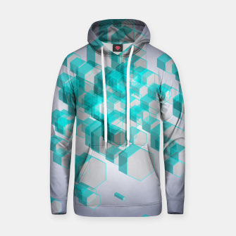 Thumbnail image of 3D Hexagon BG XVIII Cotton hoodie, Live Heroes