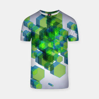 Thumbnail image of 3D Hexagon BG IX T-shirt, Live Heroes