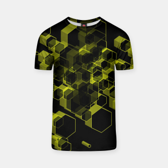 Thumbnail image of 3D Hexagon BG X T-shirt, Live Heroes