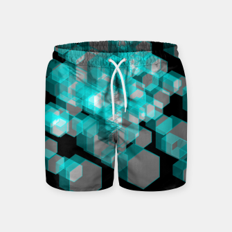 Thumbnail image of 3D Hexagon BG XIII Swim Shorts, Live Heroes