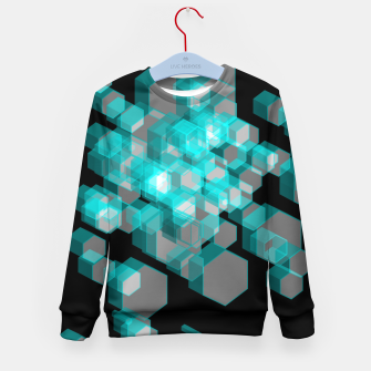 Thumbnail image of 3D Hexagon BG XIII Kid's sweater, Live Heroes
