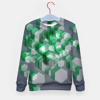 Thumbnail image of 3D Hexagon BG XII Kid's sweater, Live Heroes