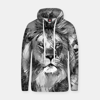 Thumbnail image of AnimalArtBW_Lion_003_by_JAMFoto Cotton hoodie, Live Heroes