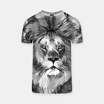 Thumbnail image of AnimalArtBW_Lion_003_by_JAMFoto T-shirt, Live Heroes