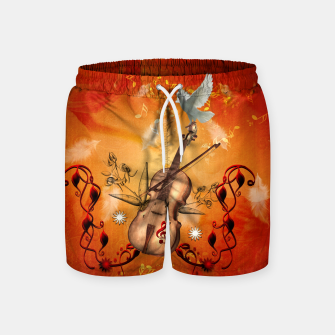 Thumbnail image of Violin with violin bow and dove Swim Shorts, Live Heroes