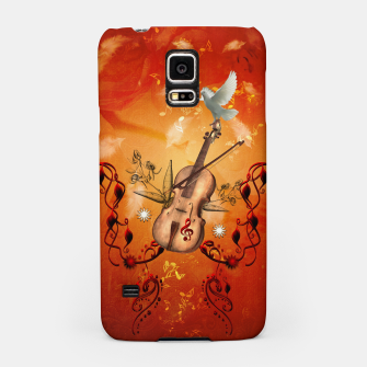Miniatur Violin with violin bow and dove Samsung Case, Live Heroes