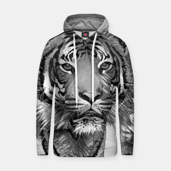 Thumbnail image of AnimalArtBW_Tiger_002_by_JAMFoto Cotton hoodie, Live Heroes