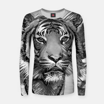 Thumbnail image of AnimalArtBW_Tiger_002_by_JAMFoto Woman cotton sweater, Live Heroes