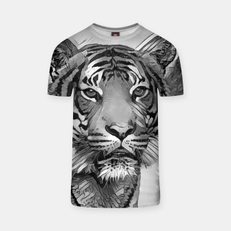Thumbnail image of AnimalArtBW_Tiger_002_by_JAMFoto T-shirt, Live Heroes