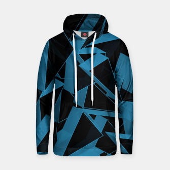Thumbnail image of 3D Broken Glass  Cotton hoodie, Live Heroes