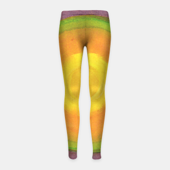 Miniatur Sun above purple Sky  Girl's leggings, Live Heroes