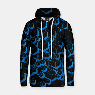 Miniatur 3D Futuristic Cubes III Cotton hoodie, Live Heroes