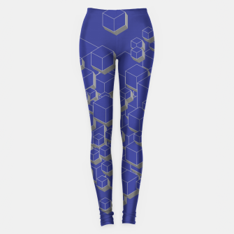 Thumbnail image of 3D Futuristic Cubes XII Leggings, Live Heroes