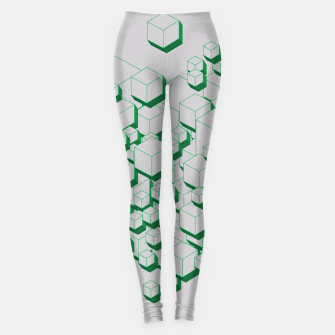 Thumbnail image of 3D Futuristic Cubes XIII Leggings, Live Heroes