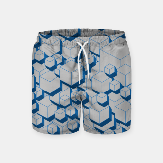 Thumbnail image of 3D Futuristic Cubes II Swim Shorts, Live Heroes