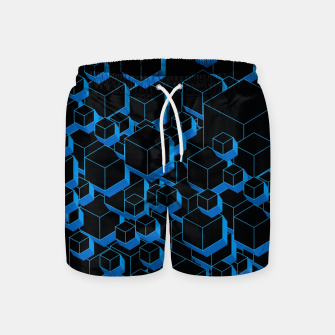 Thumbnail image of 3D Futuristic Cubes III Swim Shorts, Live Heroes