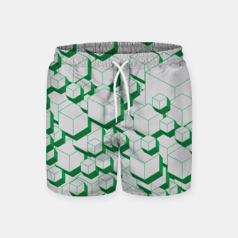 Thumbnail image of 3D Futuristic Cubes XIII Swim Shorts, Live Heroes