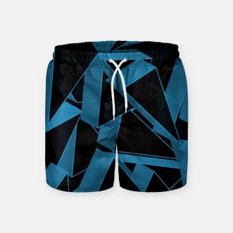 Thumbnail image of 3D Broken Glass  Swim Shorts, Live Heroes