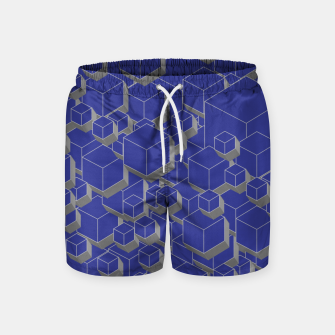 Thumbnail image of 3D Futuristic Cubes XII Swim Shorts, Live Heroes