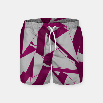 Thumbnail image of 3D Broken Glass VIII Swim Shorts, Live Heroes